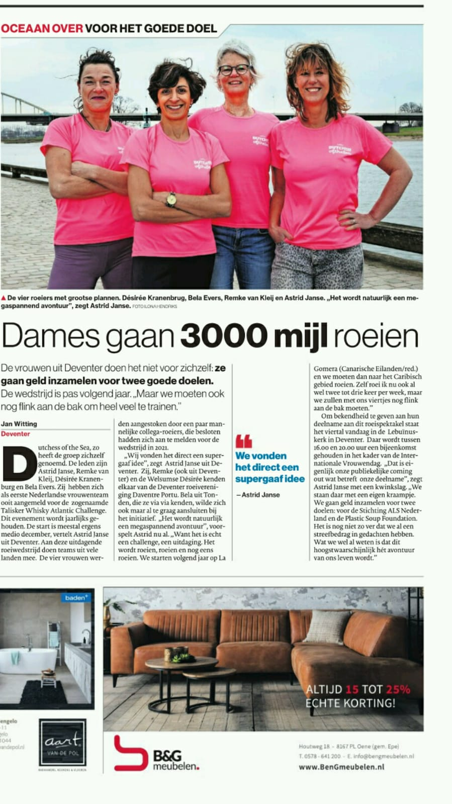 Dutchess of the Sea in De Stentor